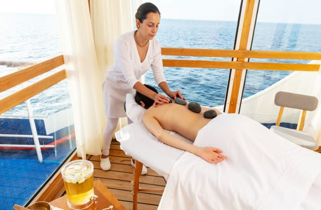 Massage with a sea view