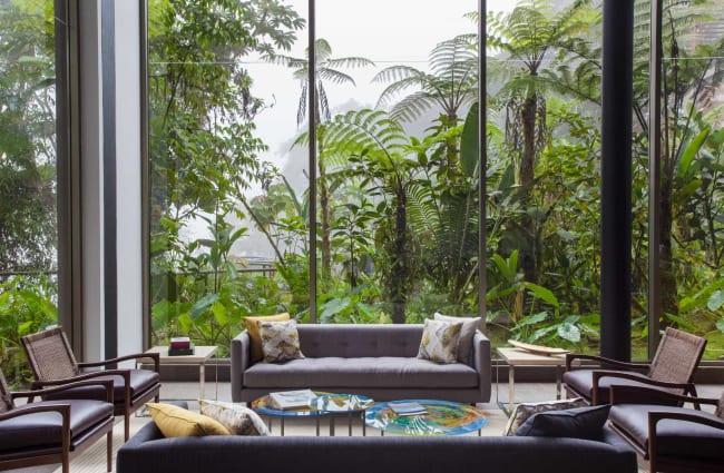 Inside Mashpi Lodge Lounge