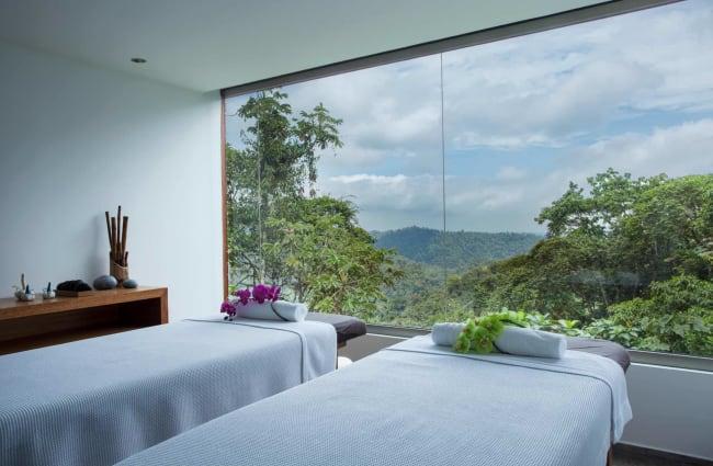 Spa with panoramic windows