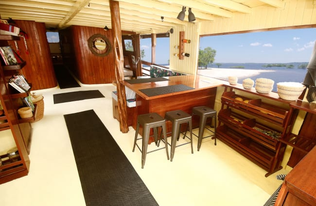 Dining room on board