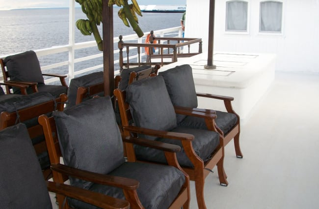 Armchairs on the deck