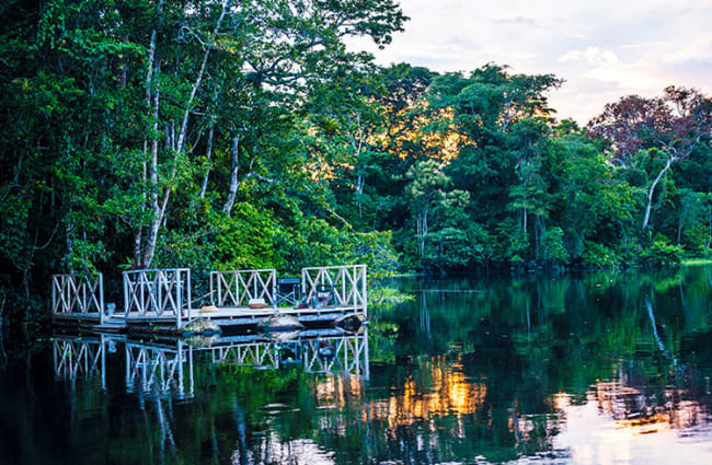 lake in the amazon for swimming or fishing
