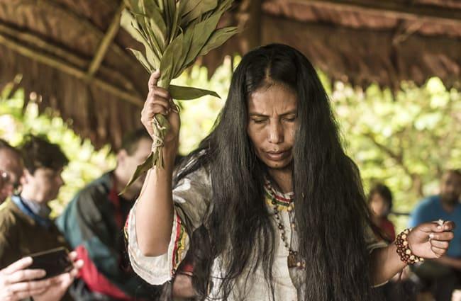 Female Shaman during ceremony