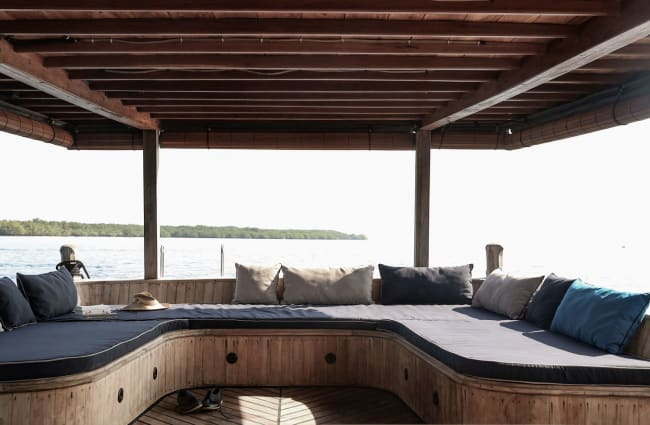 Sofas on the deck