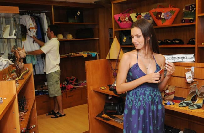 A woman in the boutique