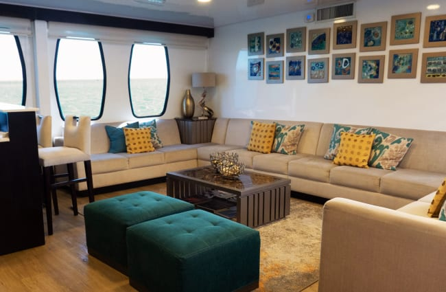 Sofas by the window at the lounge