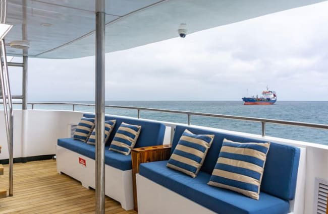 Sitting outdoor area onboard