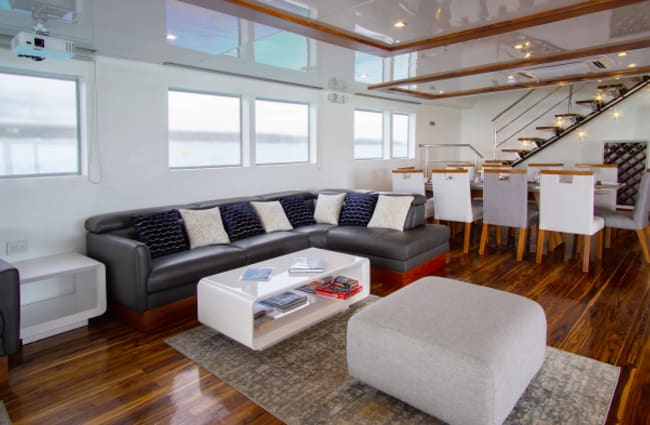 Sofas and tables in the lounge