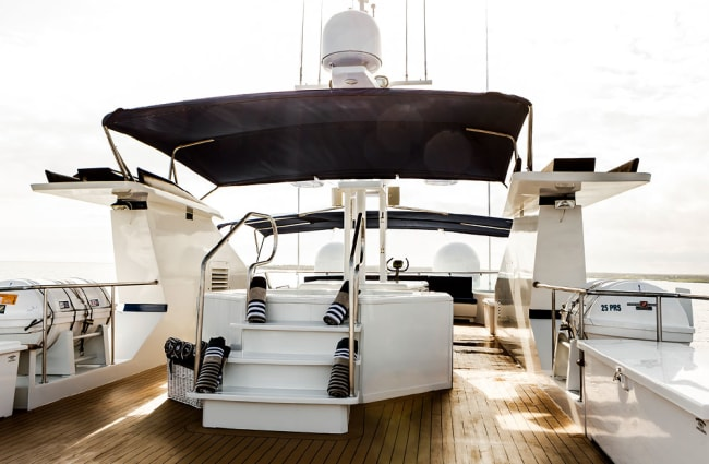 Top deck of the yacht