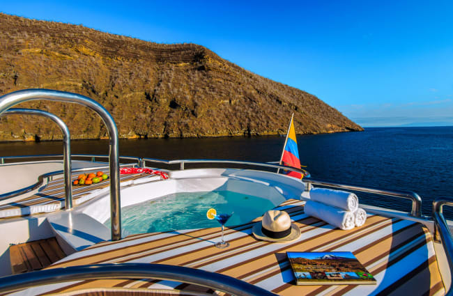 Jacuzzi on the aft of the boat