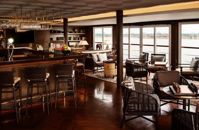 Bar with large windows
