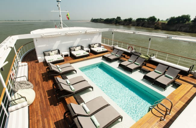 Pool on the sun deck