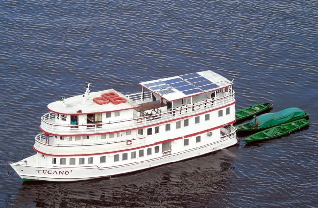 Embarking Tucano Amazon Cruise