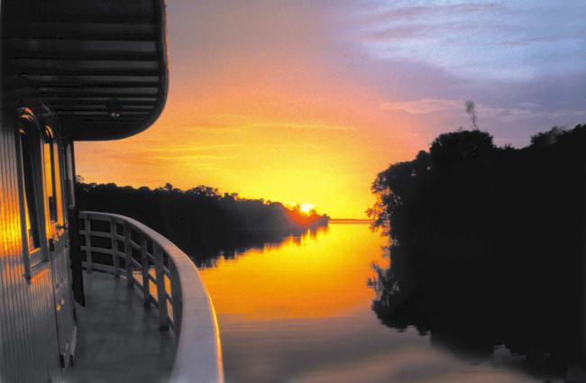 Sunset over the Amazon Tucano Cruise