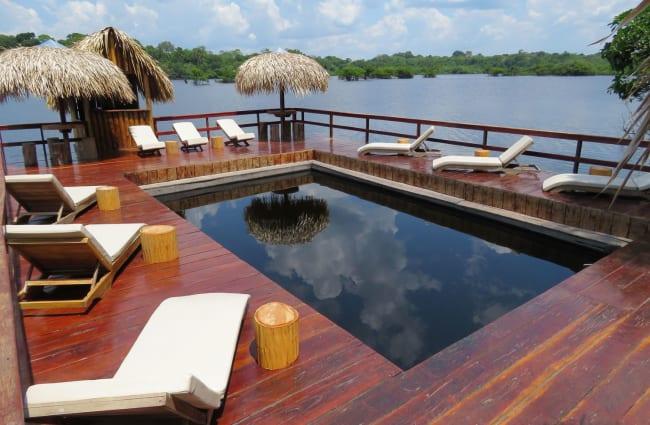 Pool overlooking the Amazon river