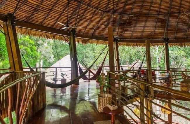 Lounge with hammocks
