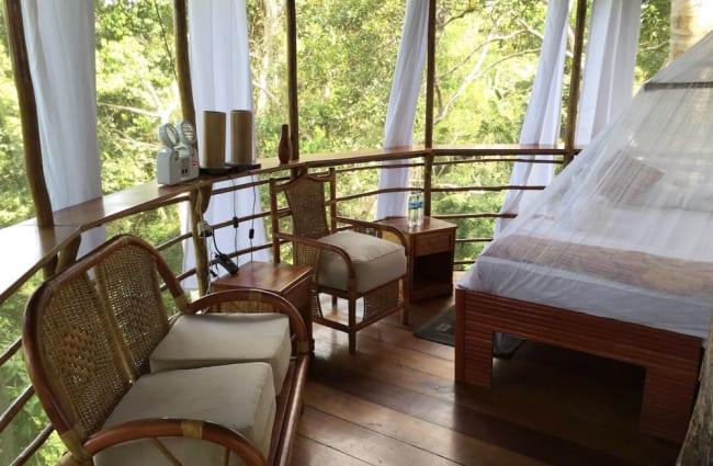 Interior of bungalow
