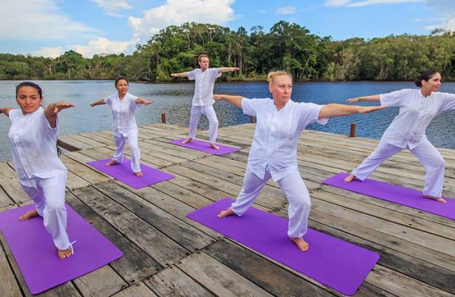 Yoga on a deck