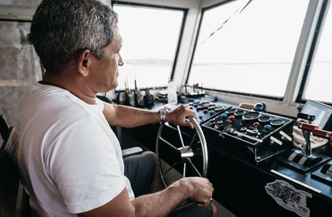 Captain in Bridge