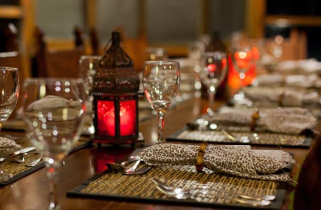Special Dining Setup Caiman Lodge