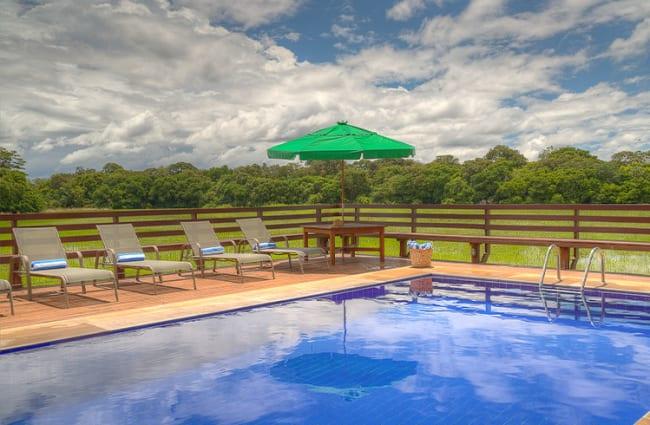 Pool Area Caiman Lodge