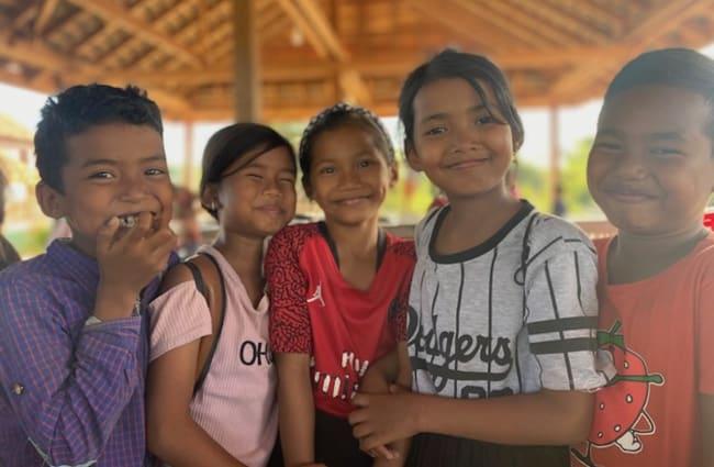 Smiling children of the Green School, Cambodia