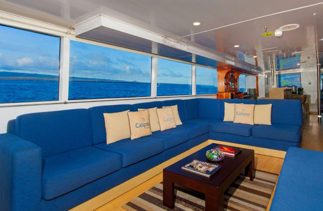 Sofas onboard the ship
