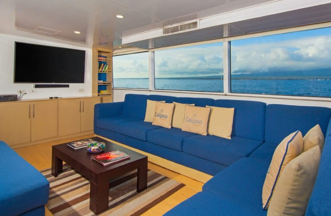 Sofas and tv onboard