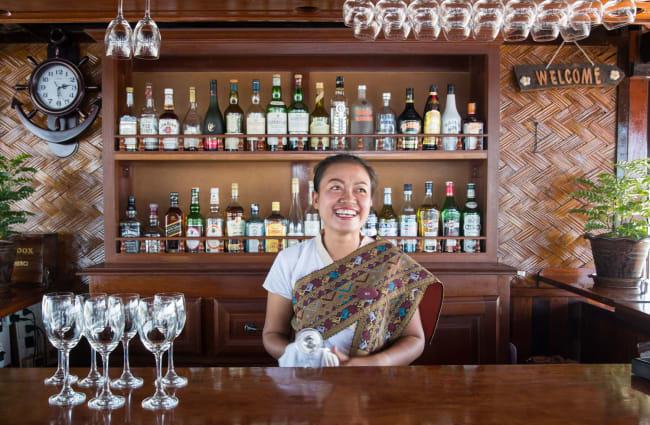 Smiling female bartender