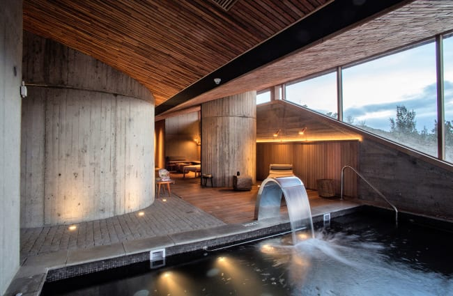 pool and spa at the tierra chiloe lodge, chile