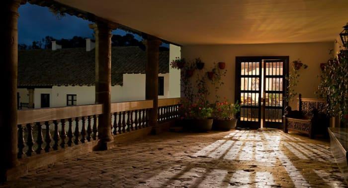Light shining through door hacienda