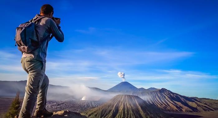 Photographing Volcano Indonesia