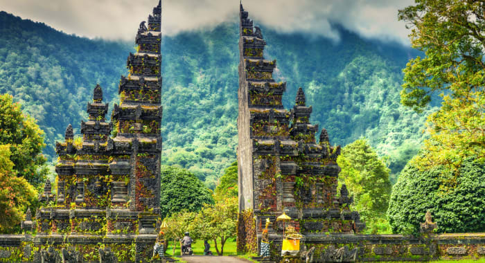 Indonesia Bali Temple Entrance
