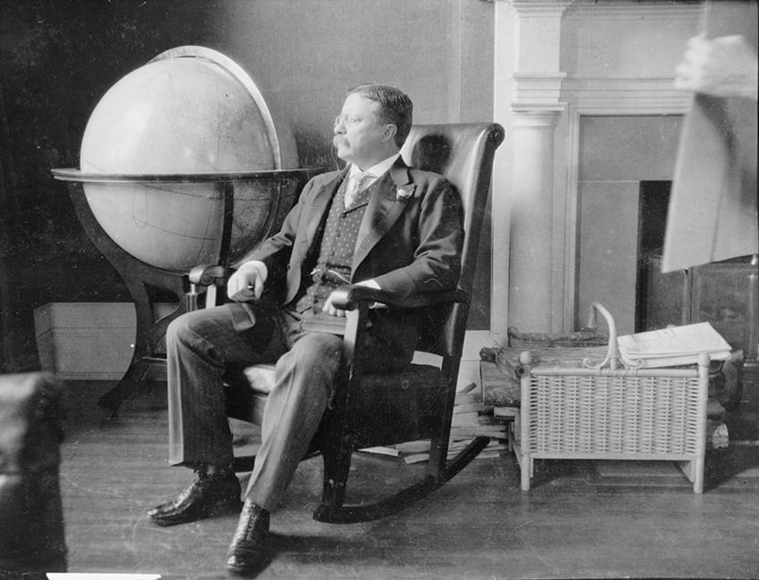 Theodore Roosevelt At The End Of His Presidency Seating