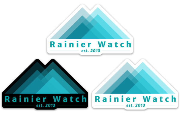 Rainier Watch Logo 3 Pack