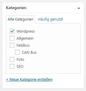 Neue Standardkategorie in WordPress
