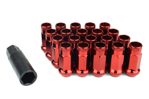 M12x1.5 COOLNEIL 20pcs Titanium Burnt Wheel Lug Nuts M12x1.25 M12x1.5 Racing Car Steel Lug Nuts Steel Forged with 20 Rubber Caps