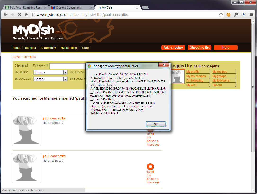 mydish co uk security missing a vital ingredient