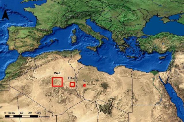 Mennyi hely kellene, a Föld napenergiával ellátásához?
