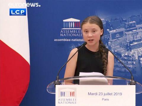 Greta Thunberg a francia Nemzetgyűlésben   ClimeNews - Hírportál