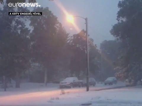 Példátlan hóvihar szeptemberben   ClimeNews - Hírportál