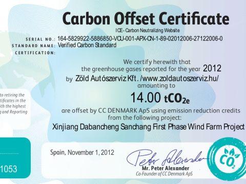 iCC minősítés - karbonsemleges működés   ClimeNews - Hírportál