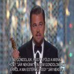 Leonardo DiCaprio beszéde megrengette a világot - ClimeNews