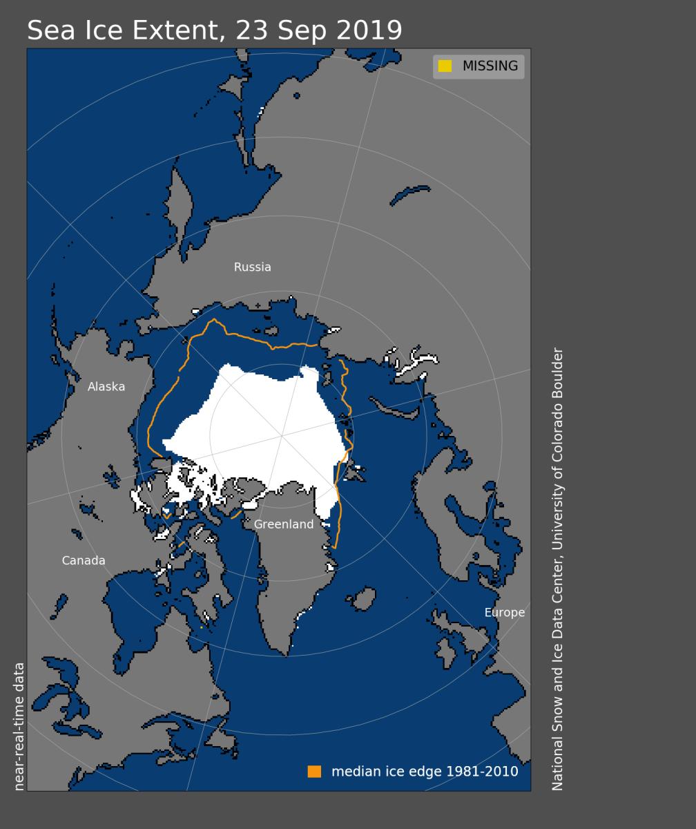 A valaha mért második legkisebb az észak-sarki jégsapka | ClimeNews