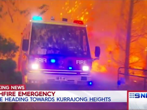 Ausztrália: félelmetes a tűzgyűrű Sydney körül | ClimeNews