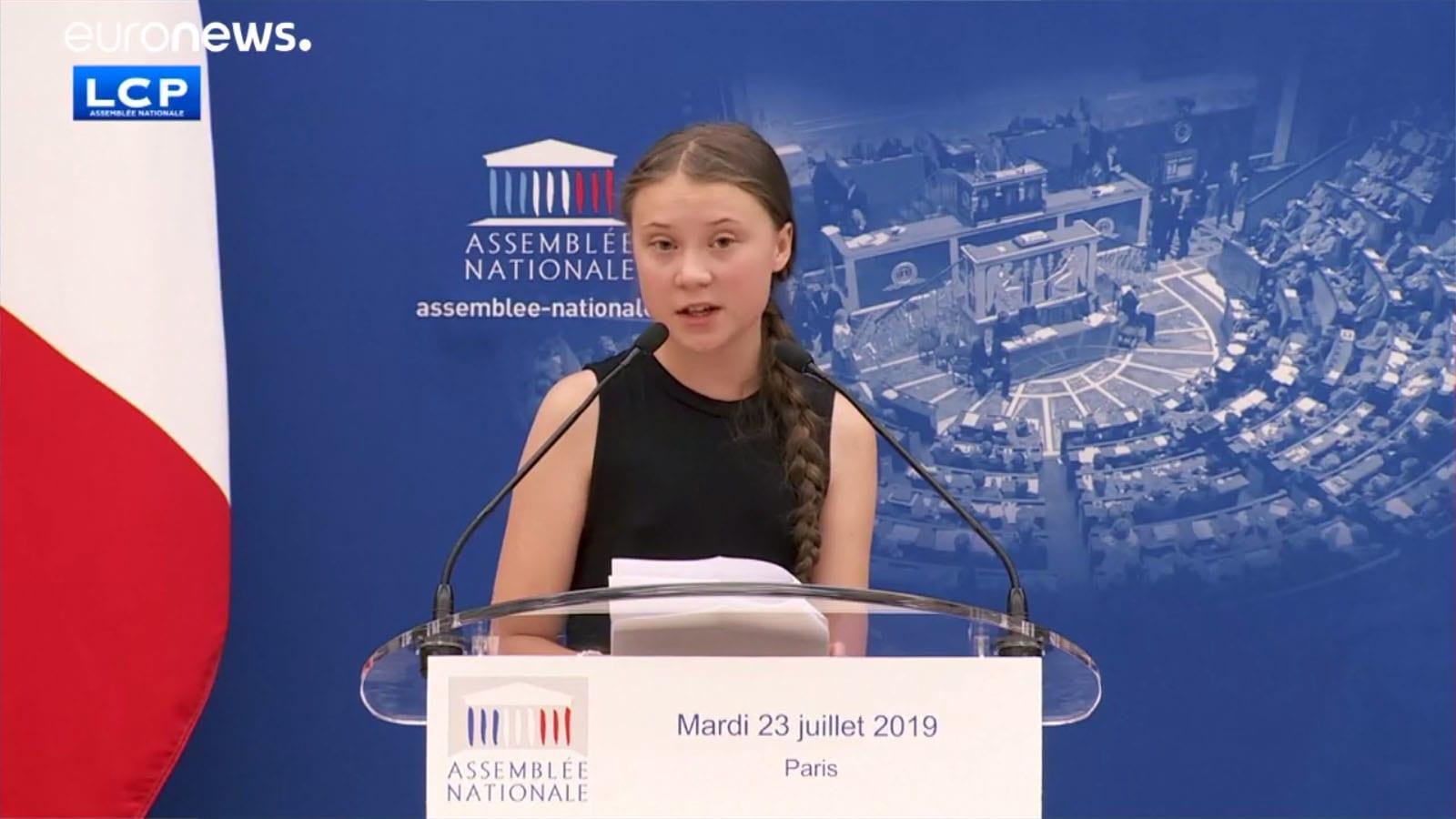 Greta Thunberg a francia Nemzetgyűlésben