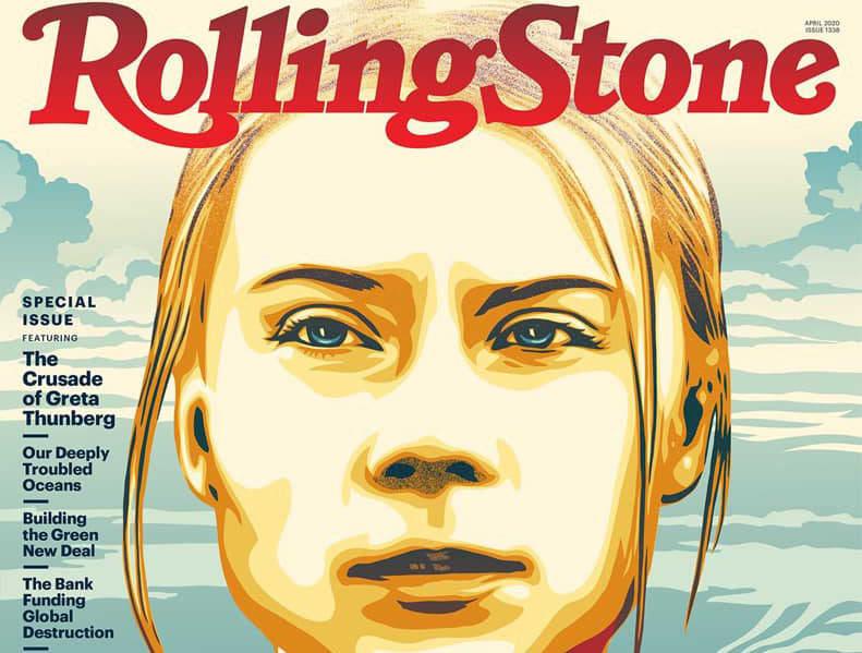 Greta Thunberg a RollingStone Magazin borítóján