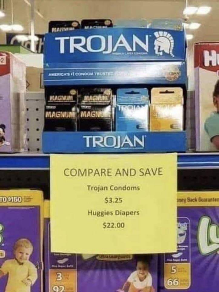 Az óvszer 7-szer olcsóbb, mint a pelenka!