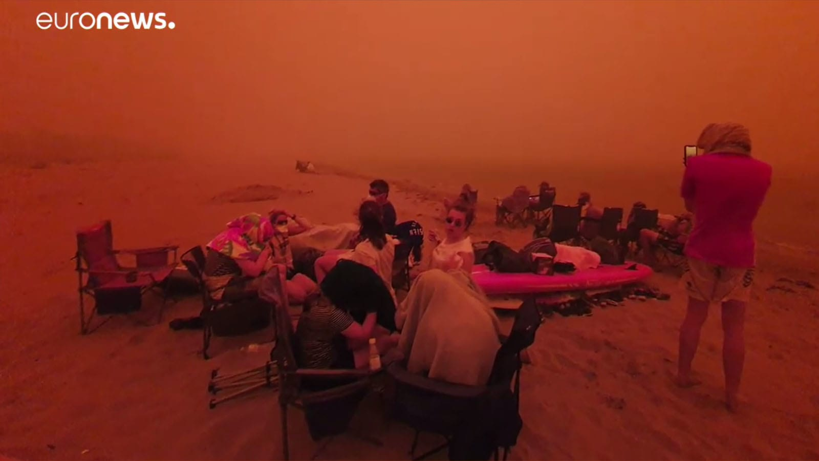 Vízpartokra menekülnek az emberek az Ausztrál tűz elől! – (Frissítve)