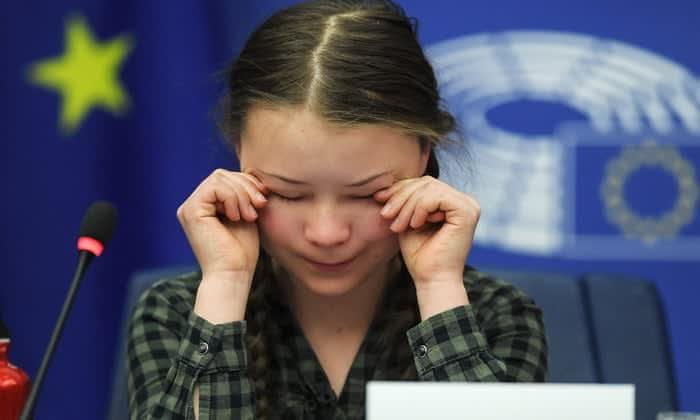 Greta Thunberg emocionális beszéde az EP-ben